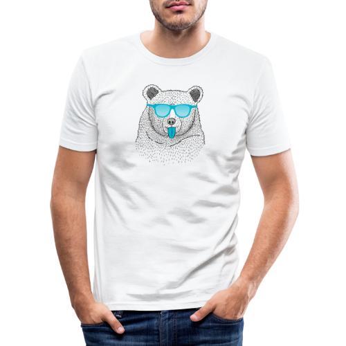 BABO blue Bär - Männer Slim Fit T-Shirt