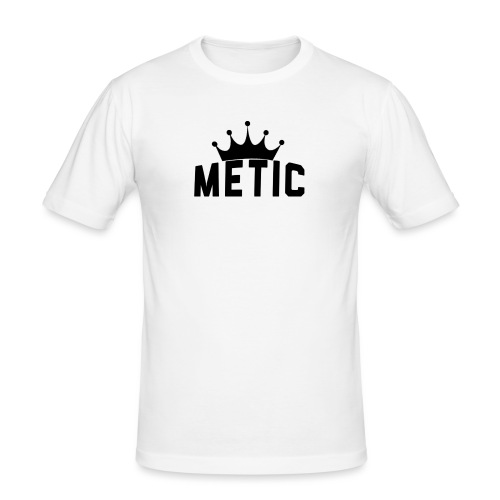 T Shirt design Black Bigger - Mannen slim fit T-shirt