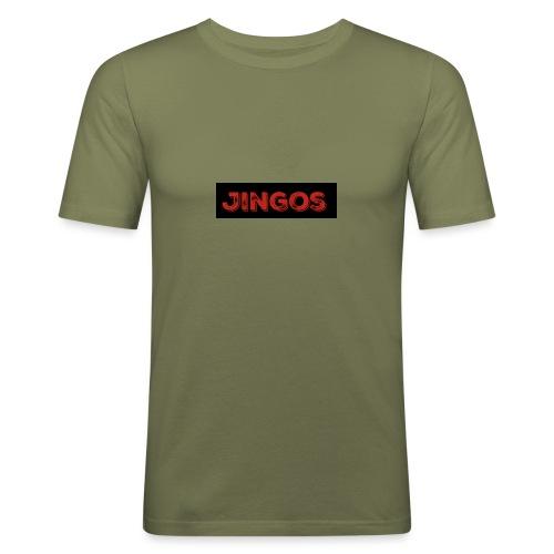 Jingos tee - Black on white - Herre Slim Fit T-Shirt