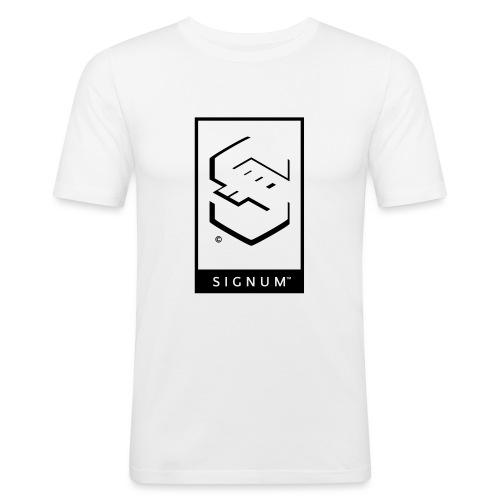 signumGamerLabelBW - Men's Slim Fit T-Shirt