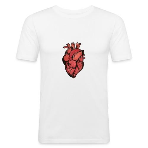 Heart - Mannen slim fit T-shirt