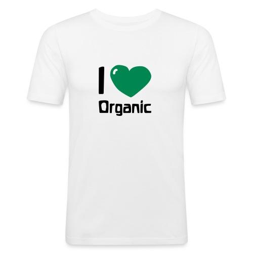 I love Organic - Männer Slim Fit T-Shirt