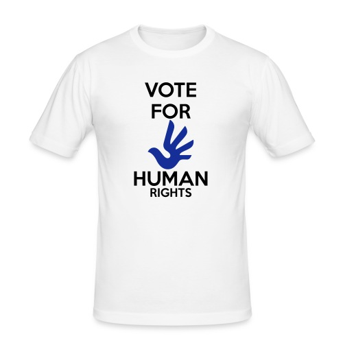 Vote for Human Rights - Mannen slim fit T-shirt