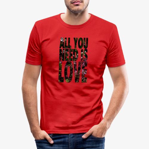 All You need is love - Obcisła koszulka męska