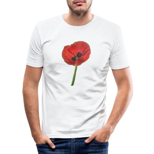 Klaproos, Poppy - Mannen slim fit T-shirt