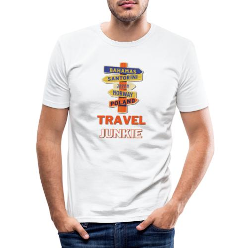 traveljunkie - i like to travel - Männer Slim Fit T-Shirt