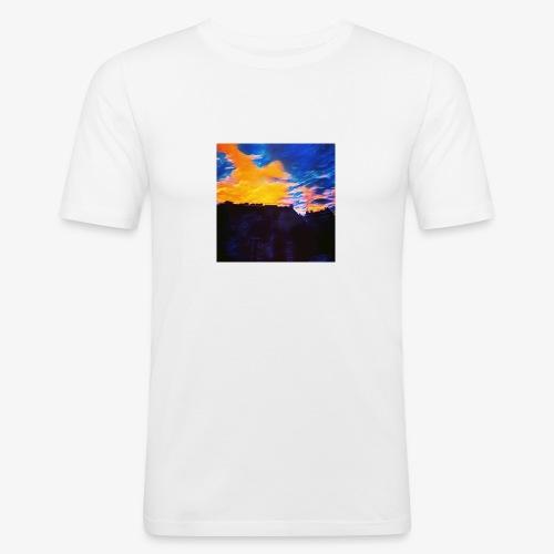 Artistic Sunset - Maglietta aderente da uomo