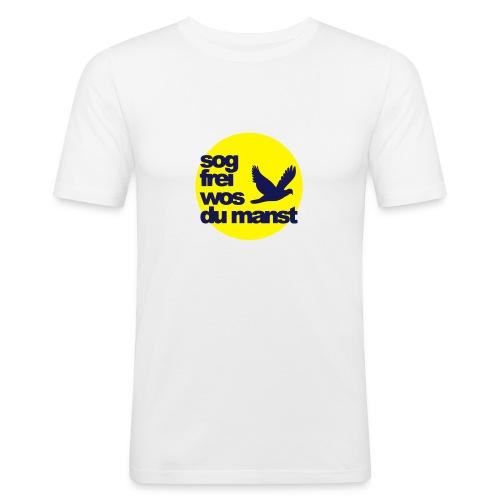 sunseitnIcontsogfreiwosdu - Männer Slim Fit T-Shirt