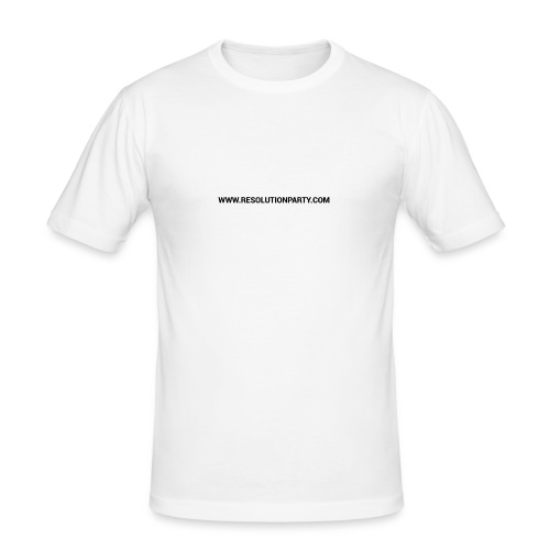 www.resolutionparty.com - Men's Slim Fit T-Shirt