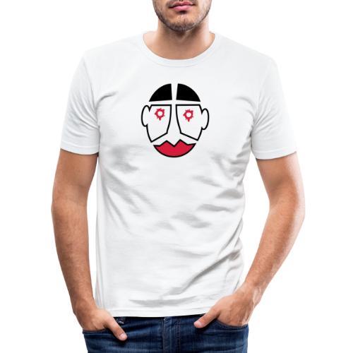 Maske mit Einschuß - Männer Slim Fit T-Shirt