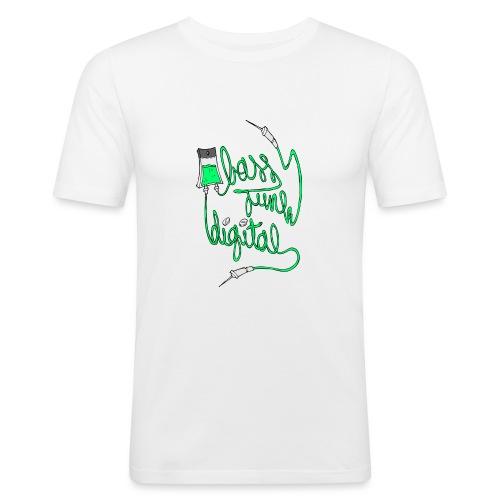 BASS JUNK DIGITAL ZIPPED HOODIE - Mannen slim fit T-shirt