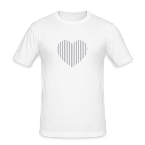 heart_striped.png - Men's Slim Fit T-Shirt