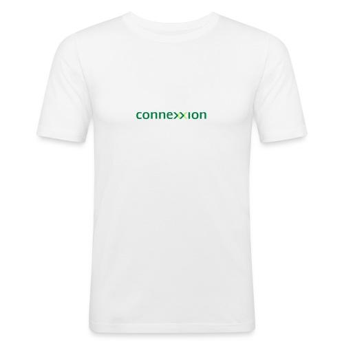 Connexxion 2 kleuren logo - Mannen slim fit T-shirt