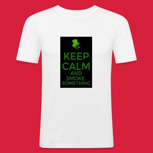 smoke something shirt - Mannen slim fit T-shirt