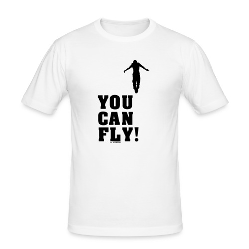 you can fly high BLACK - Camiseta ajustada hombre