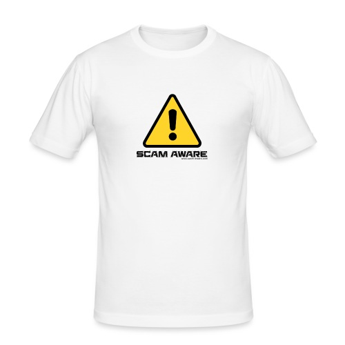 scam-aware.com's line of clothing - Men's Slim Fit T-Shirt