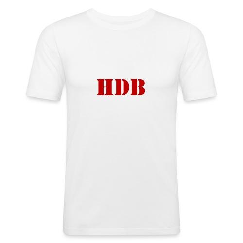 HDB Mok binnenkant rood - Mannen slim fit T-shirt