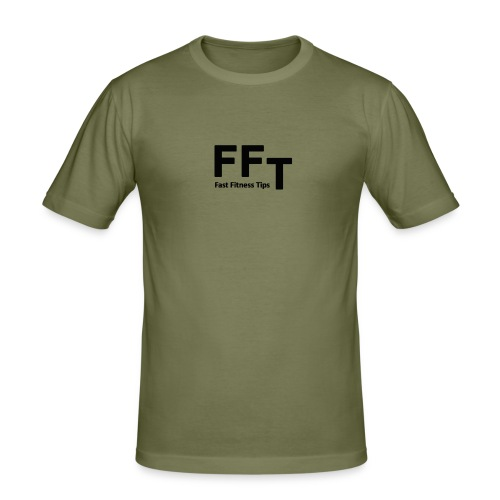FFT simple logo letters - Men's Slim Fit T-Shirt