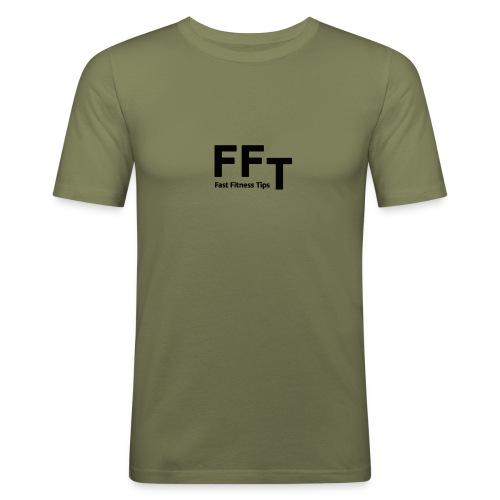 FFT simple logo letters - Men's Slim Fit T-Shirt