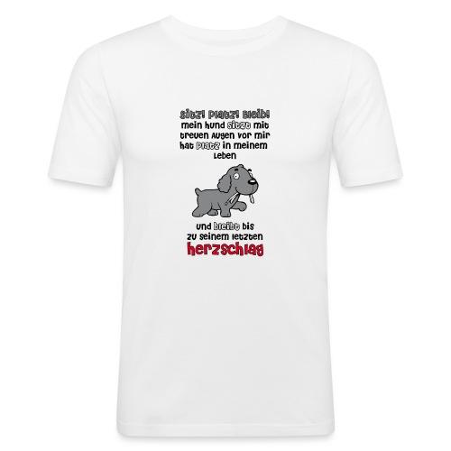 Hund Sitz!Platz!Bleib! - Männer Slim Fit T-Shirt