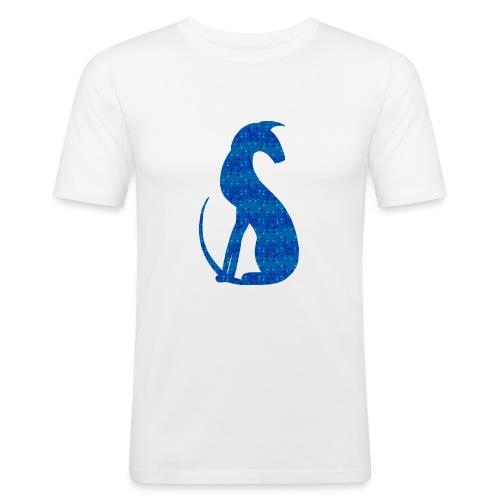 Siluett blå - Slim Fit T-shirt herr