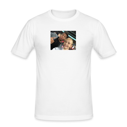 a pic with youtuber - Men's Slim Fit T-Shirt