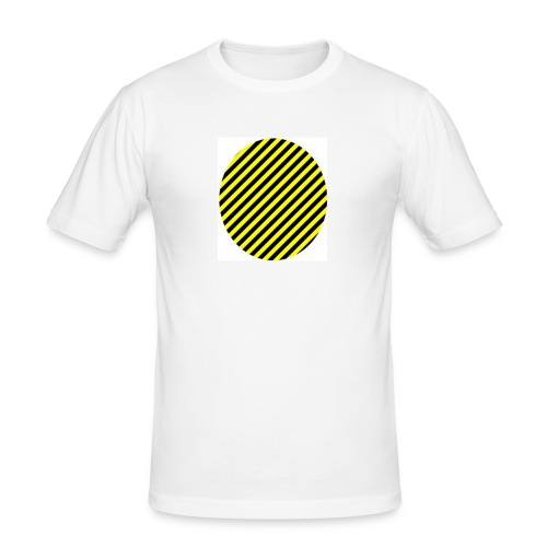 varninggulsvart - Slim Fit T-shirt herr