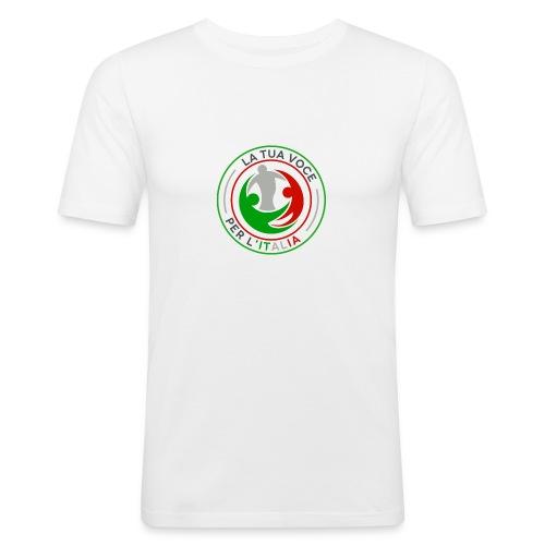 LA_TUA_VOCE_PER_ITALIA_01-png - Maglietta aderente da uomo