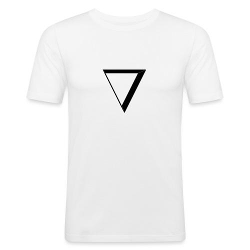 black triangle - Obcisła koszulka męska