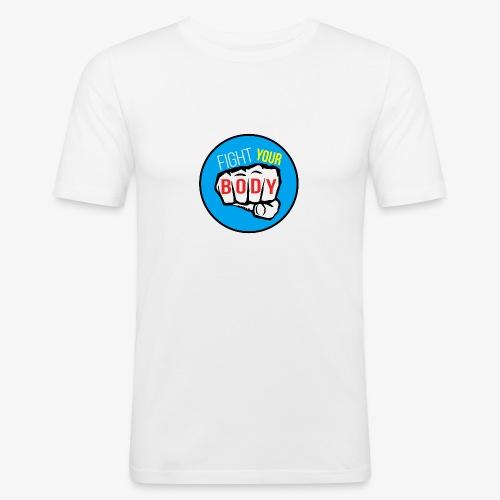 logo fyb bleu ciel - T-shirt près du corps Homme