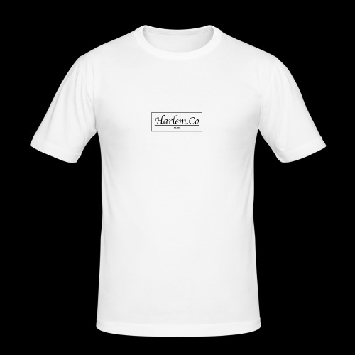 Harlem Co logo White and Black - Men's Slim Fit T-Shirt