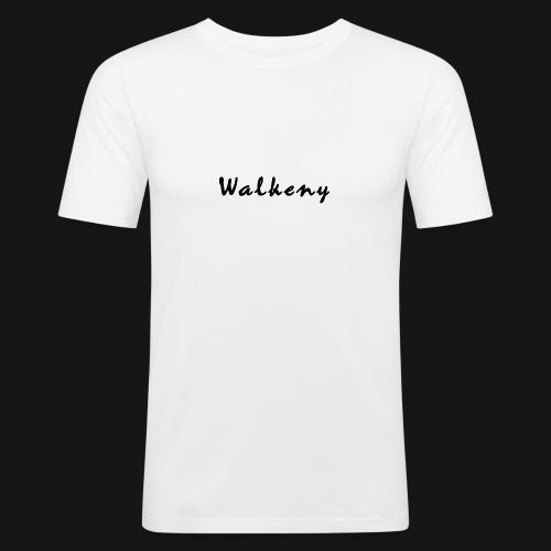 Walkeny Schriftzug - Männer Slim Fit T-Shirt