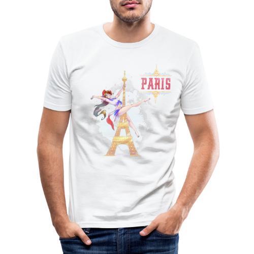 Pole Dance Paris Marianne - Men's Slim Fit T-Shirt