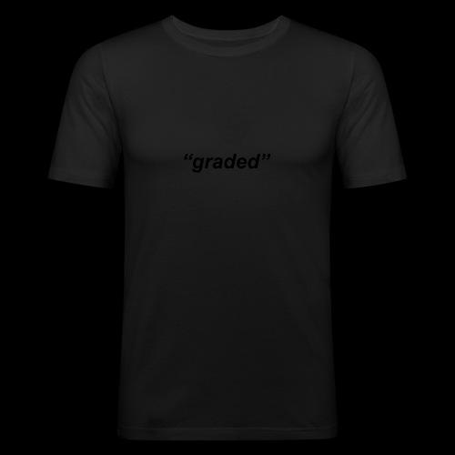 Simple Logo, Graded - Men's Slim Fit T-Shirt