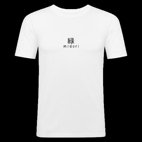 midori japan - black - Men's Slim Fit T-Shirt