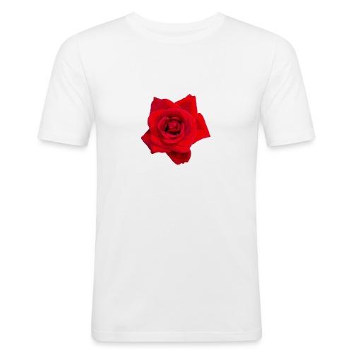 Red Roses - Obcisła koszulka męska