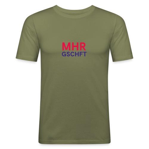 MHR GSCHFT (rot/blau) - Männer Slim Fit T-Shirt