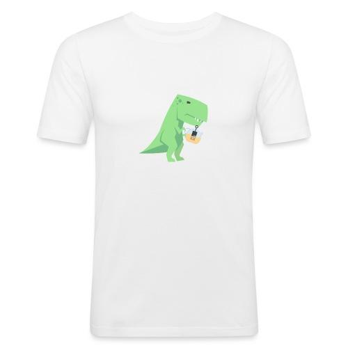 Tea-Saurus - Männer Slim Fit T-Shirt