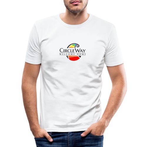 Circleway Welcome Home Logo - schwarz - Männer Slim Fit T-Shirt