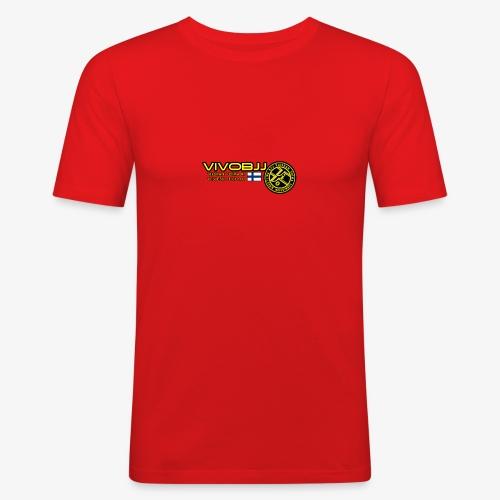 ViVoBJJ Patch White - Miesten tyköistuva t-paita