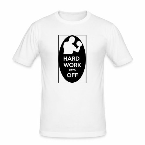 hard work pays off 2 cup.jpg - Men's Slim Fit T-Shirt