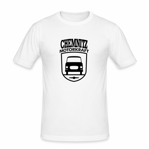 Barkas B1000 Motorkraft Chemnitz coat of arms - Men's Slim Fit T-Shirt