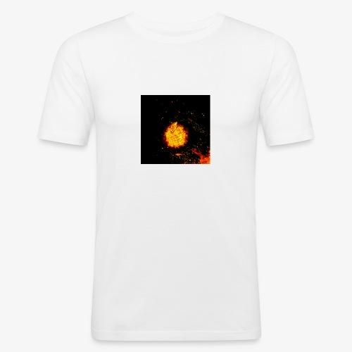 FIRE BEAST - Mannen slim fit T-shirt