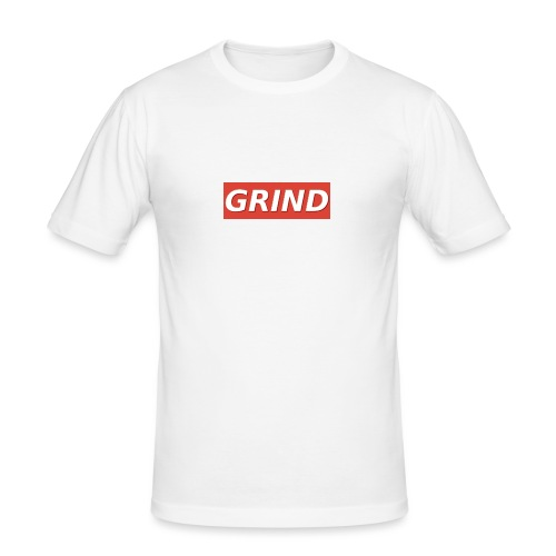 GRIND BOXED LOGO - Mannen slim fit T-shirt