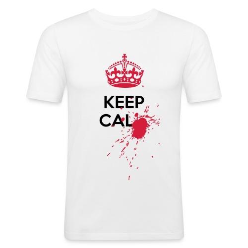 Blood spot Keep Calm horror - Maglietta aderente da uomo