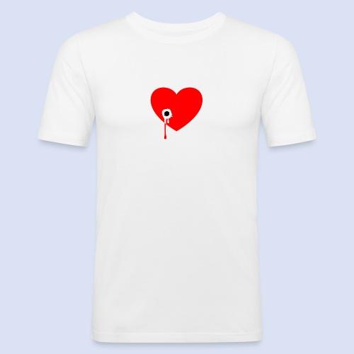 Cœur troué - T-shirt près du corps Homme