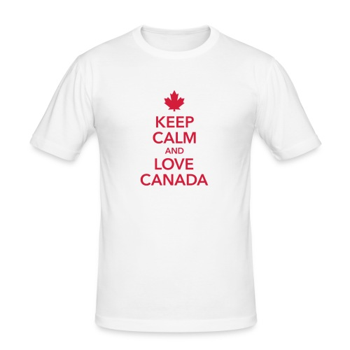 keep calm and love Canada Maple Leaf Kanada - Men's Slim Fit T-Shirt