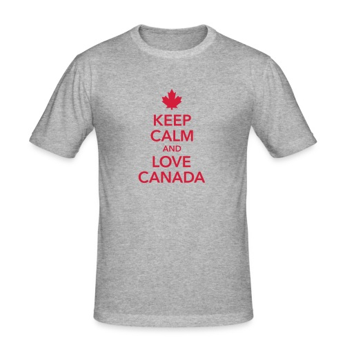 keep calm and love Canada Maple Leaf Kanada - Men's Slim Fit T-Shirt