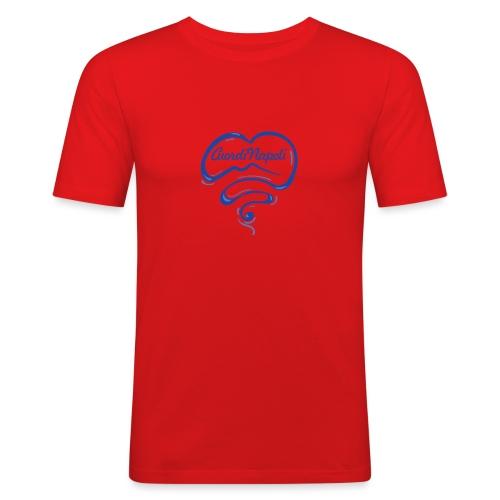 New Logo CuordiNapoli Blu - Maglietta aderente da uomo