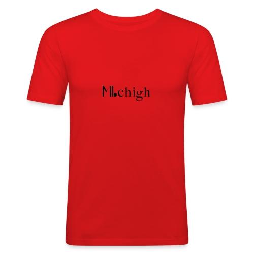 Milehigh Rags Logo Black - Slim Fit T-skjorte for menn